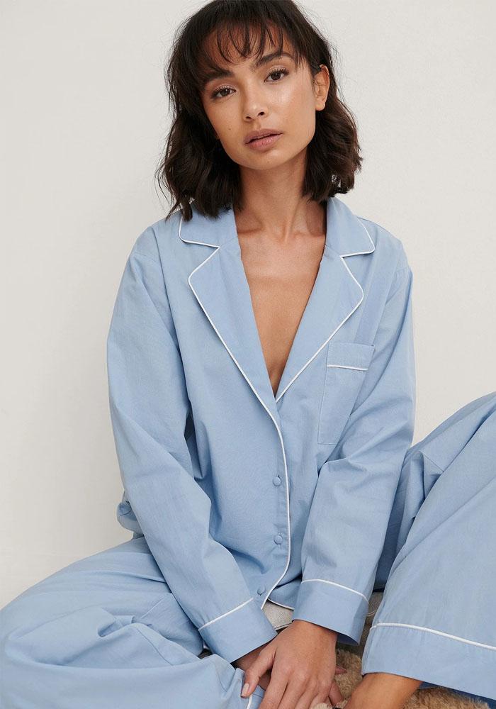 blue cotton pyjama women