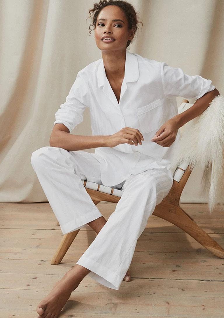 white cotton pyjama
