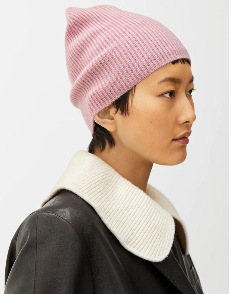 pink cashmere hat women