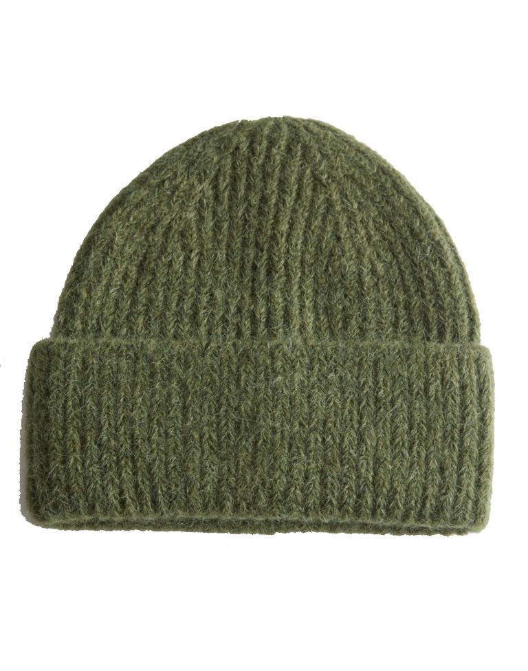 khaki beanie hat woman