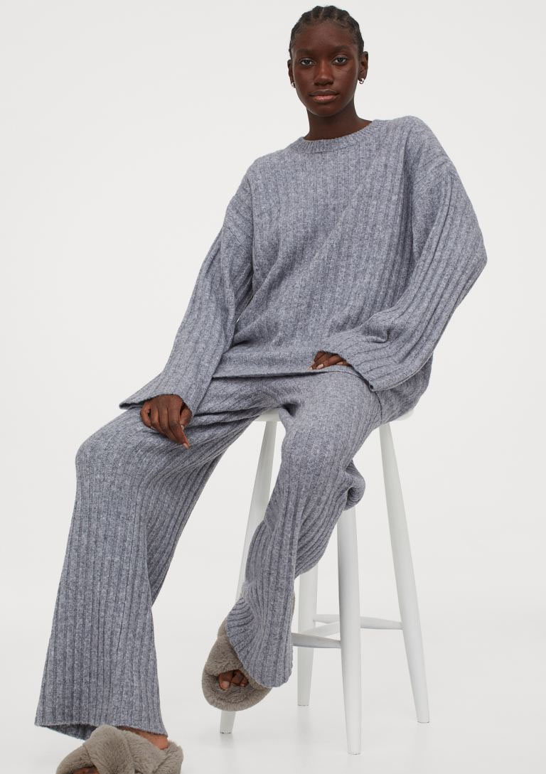 h&m grey co ord