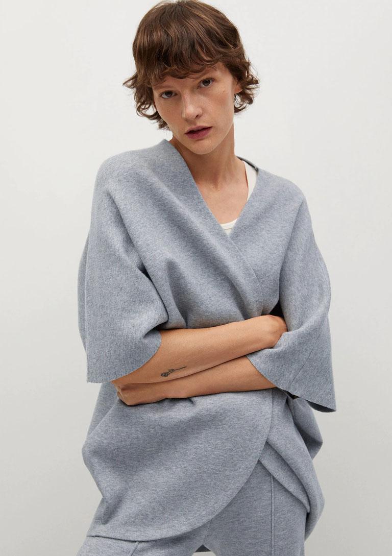 knit oversized cape