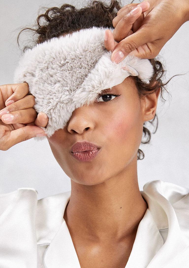 fluffy eye mask