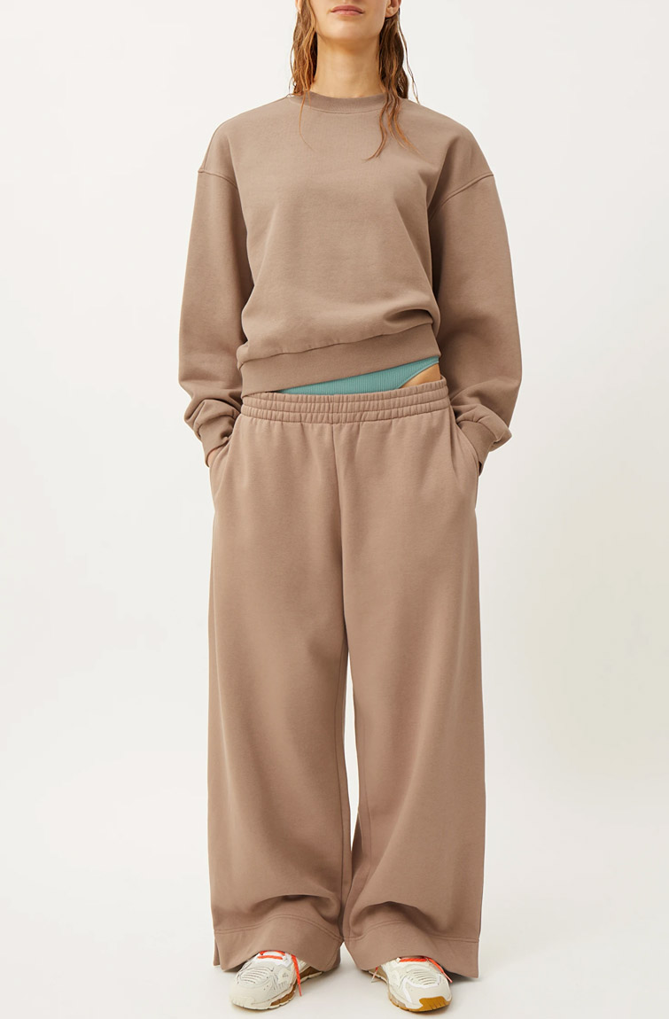 brown tracksuit woman