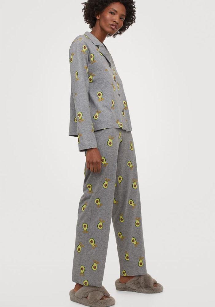 avocado pyjama h&M
