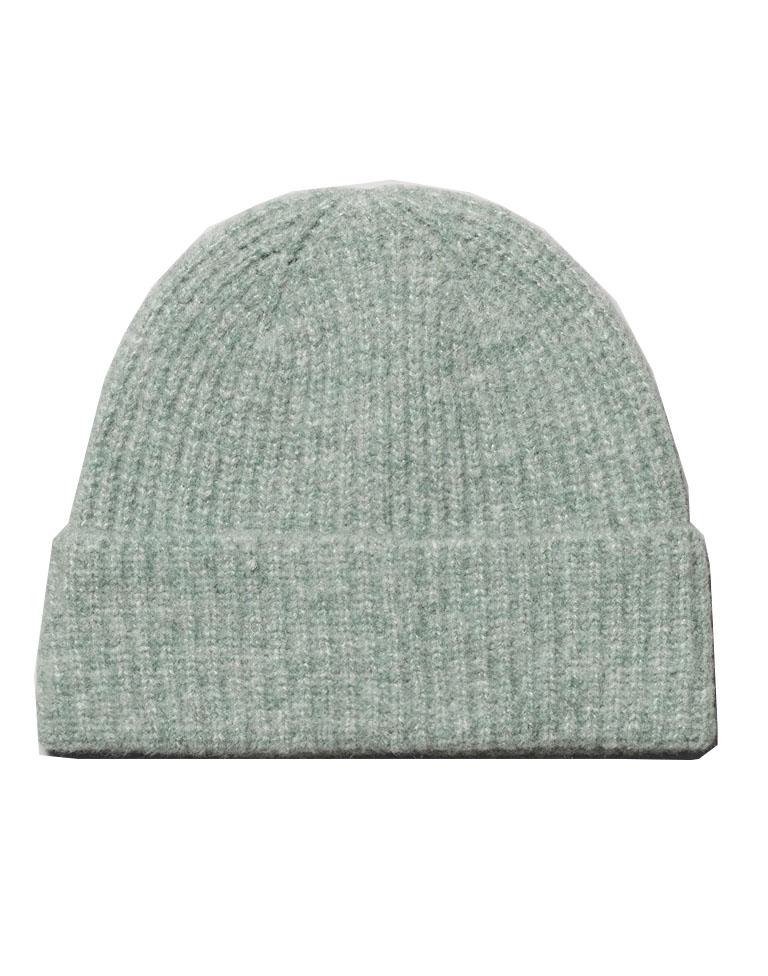 pastel green beanie hat