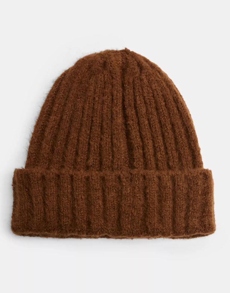 brown beanie hat women