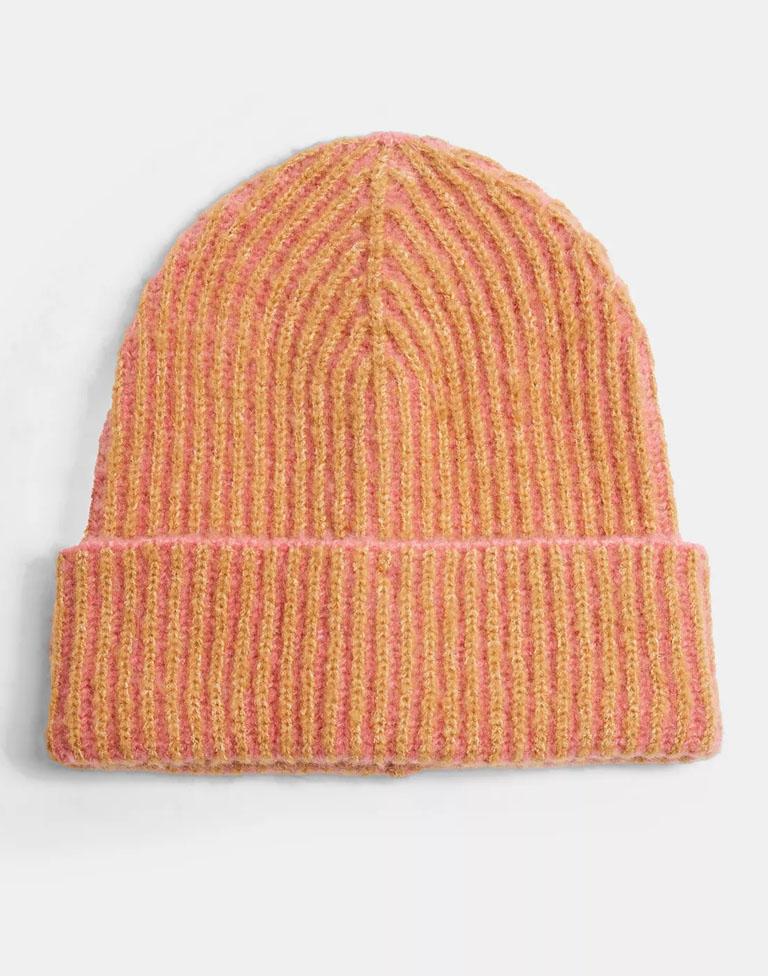 orange beanie hat topshop