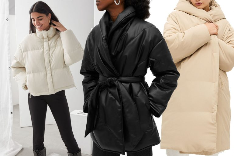 puffer jackets outfit ideas for women