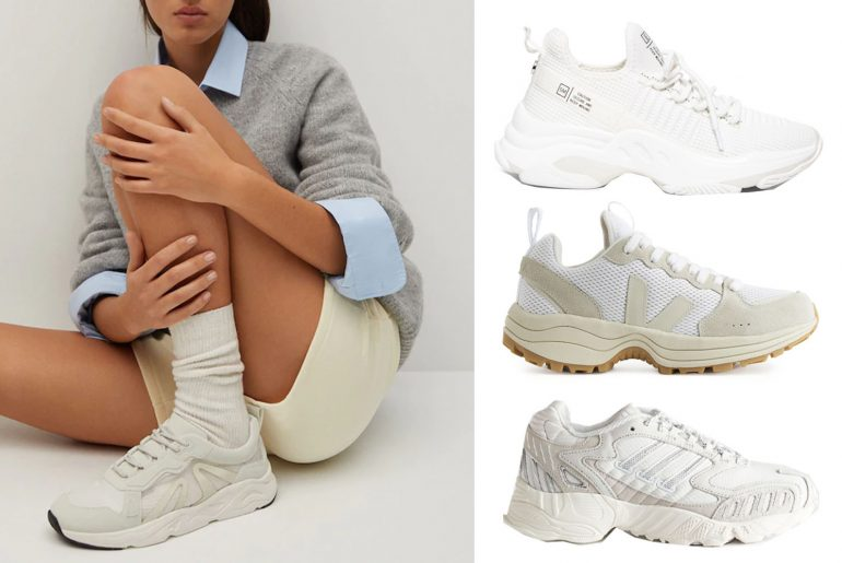 white chunky trainers for women to wear in 2021