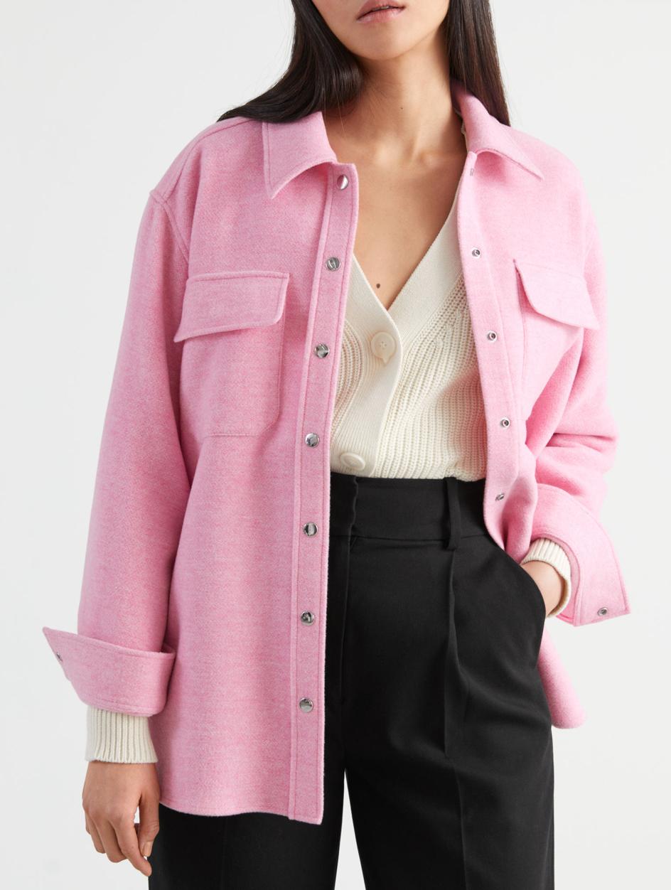 pink shacket