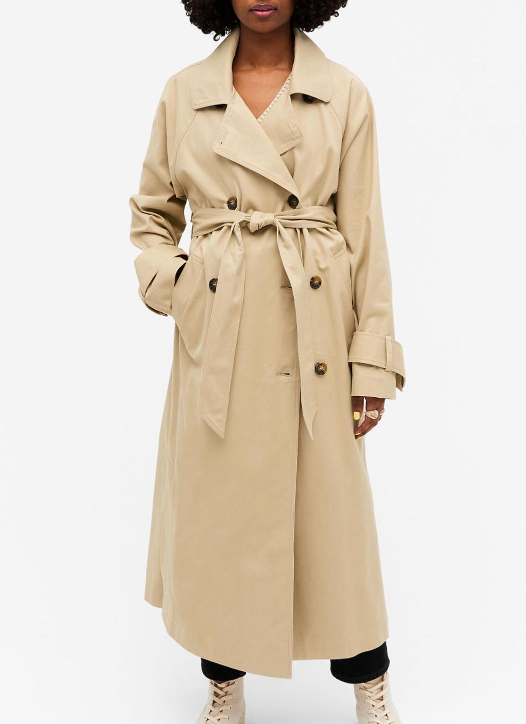 beige classic trench coat monki