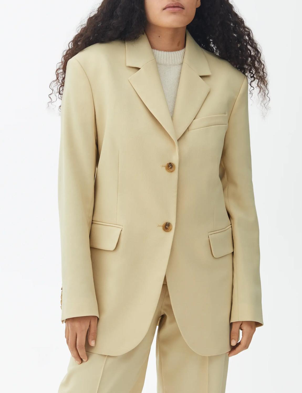 pastel yellow blazer