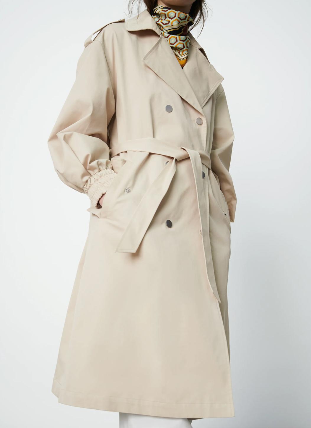 zara beige trench coat woman 2021