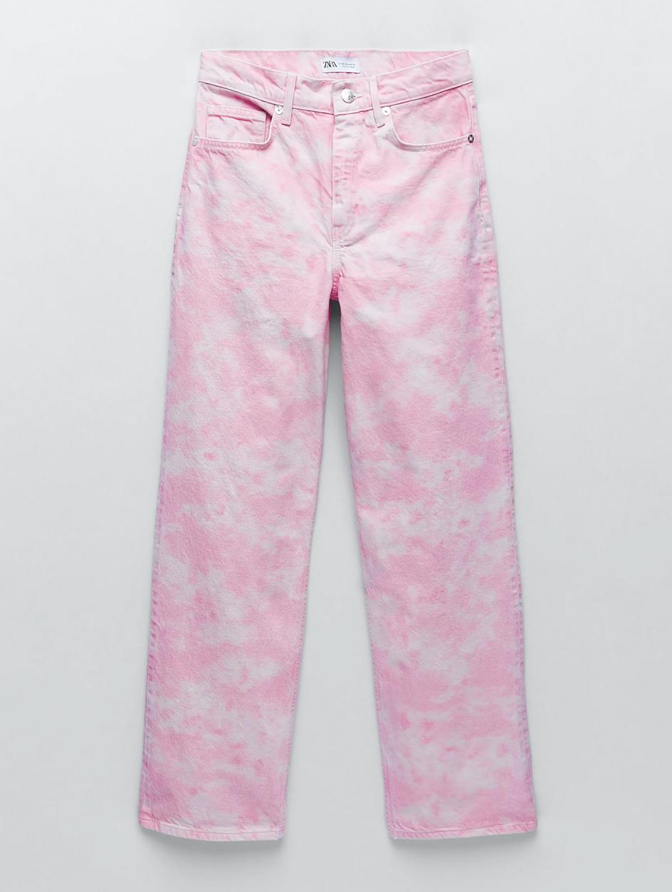 pink jeans zara