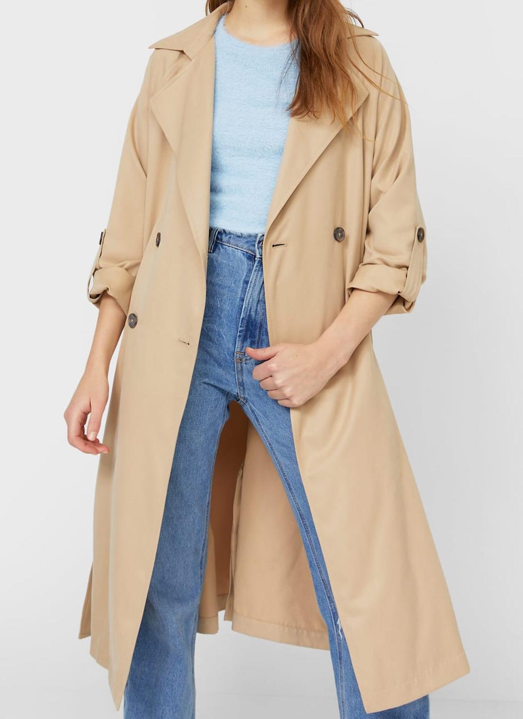 stradivarius beige trench coat