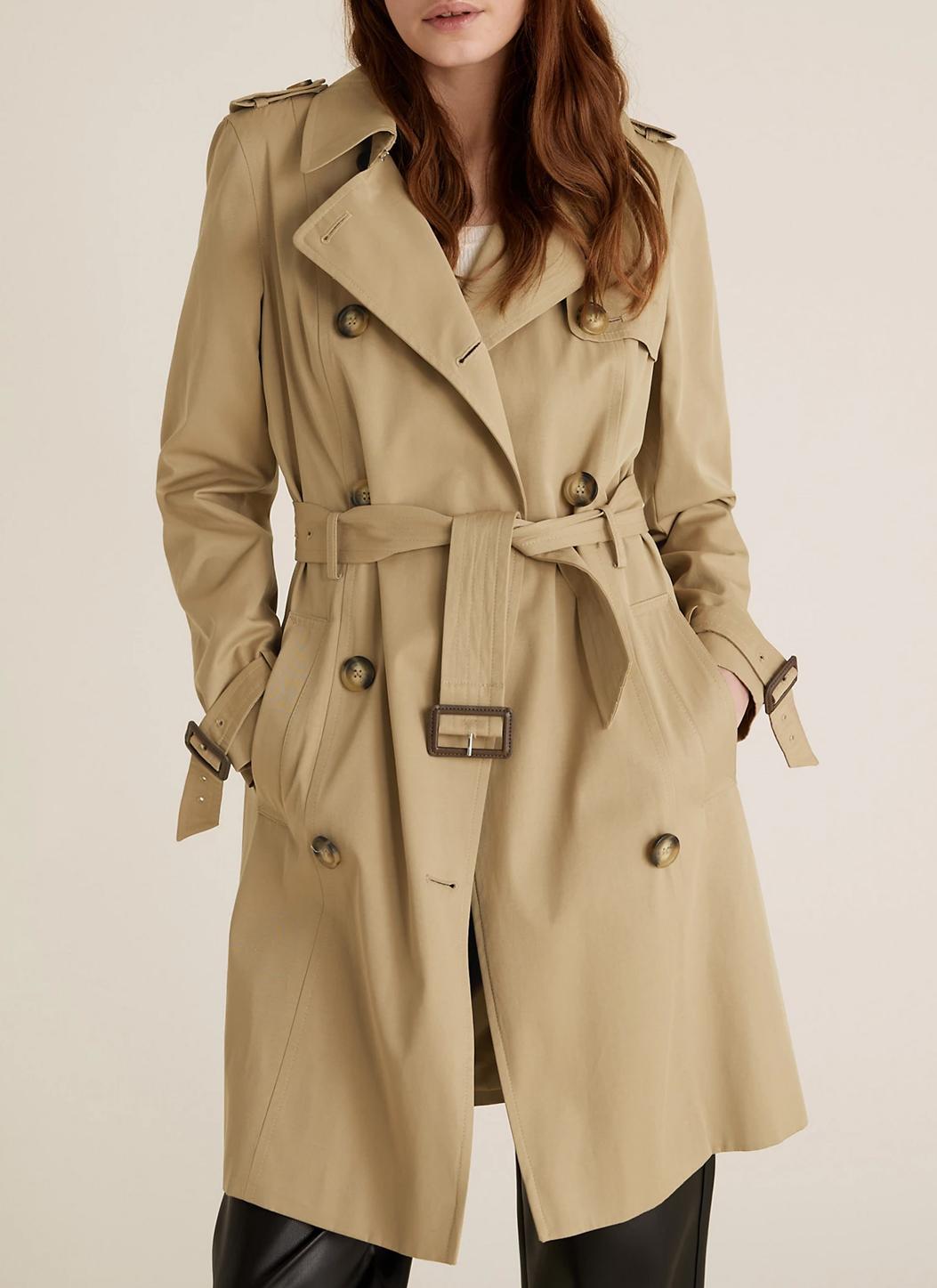 beige trench coat m&S