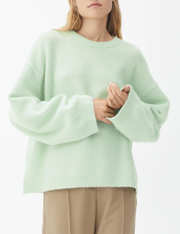 light green jumper