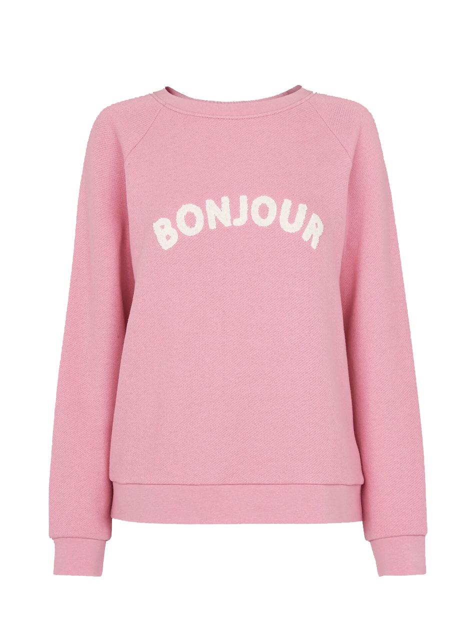 bonjour pink jumper