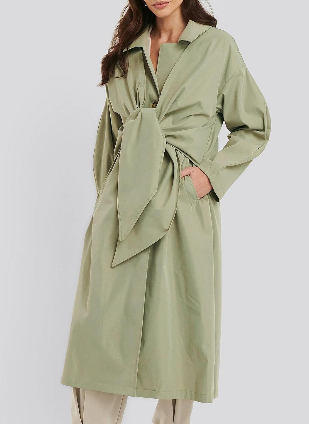 green trench coat women