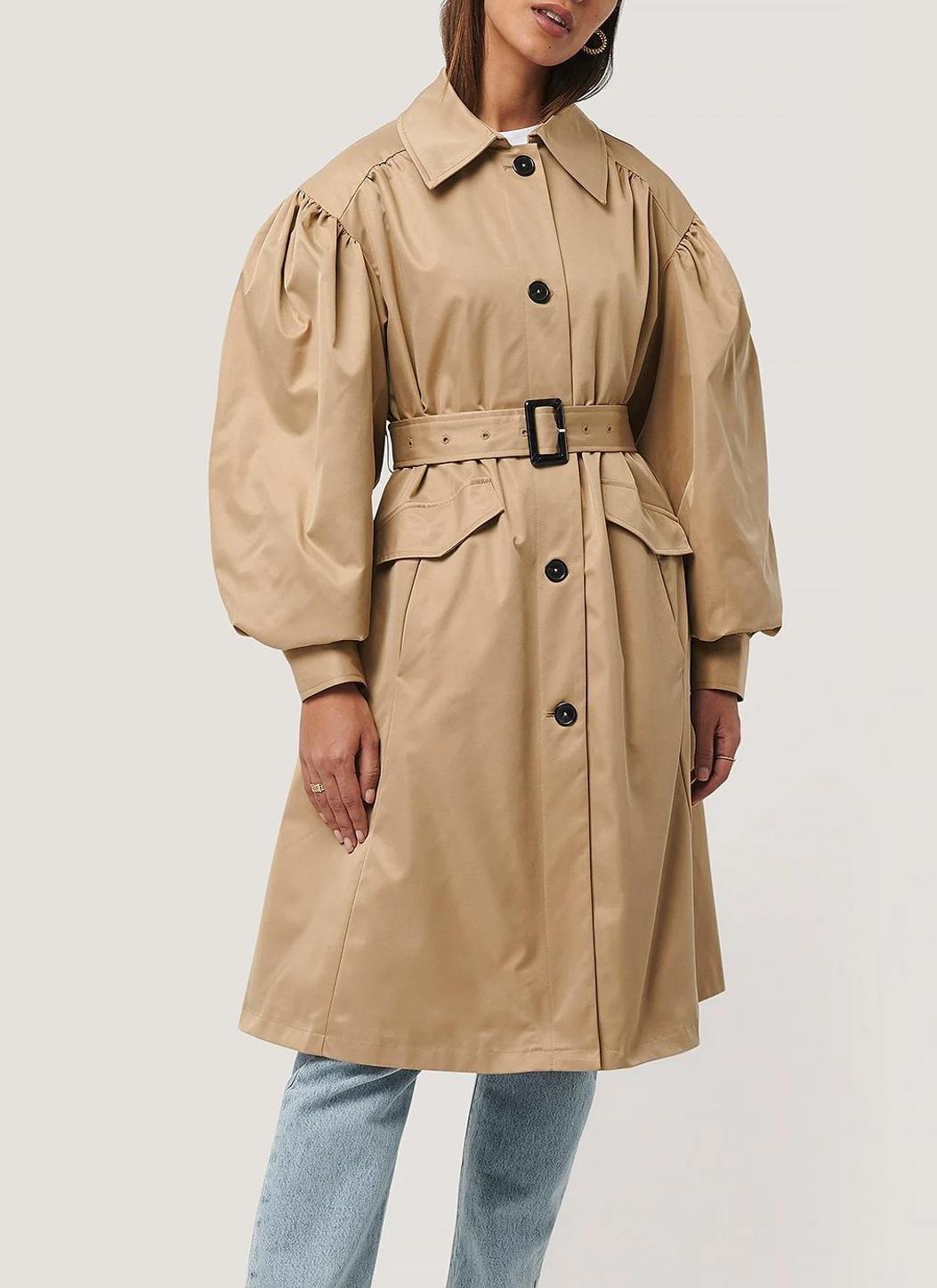 balloon sleeve trench coat 2021