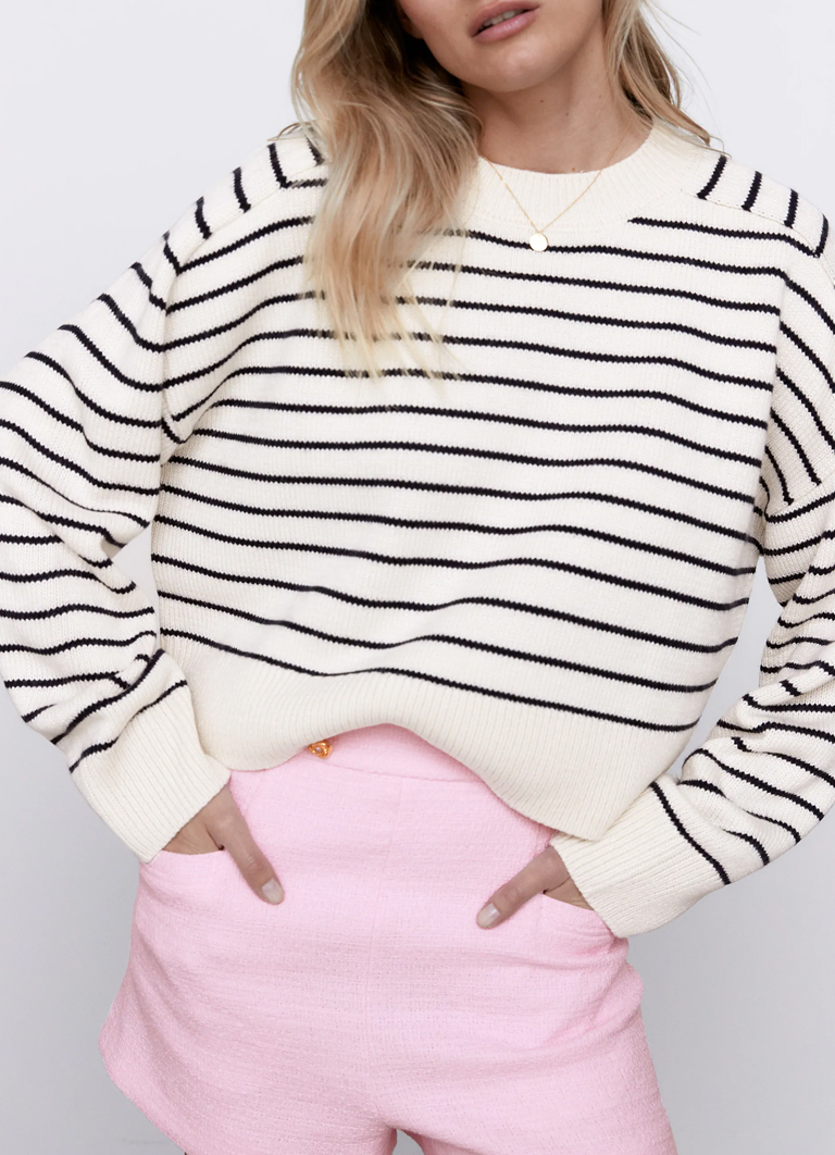 striped sweater zara