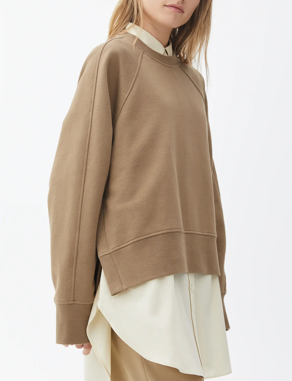 boxy brown oversized jumper