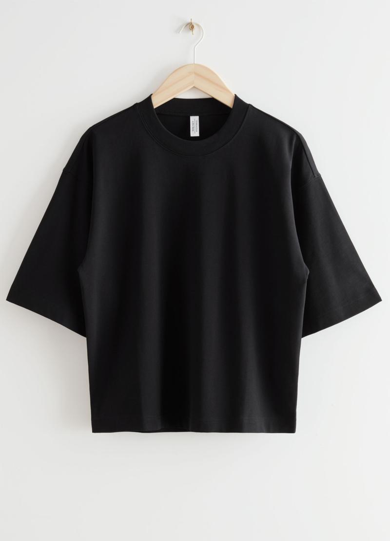 oversized basic black t-shirt women