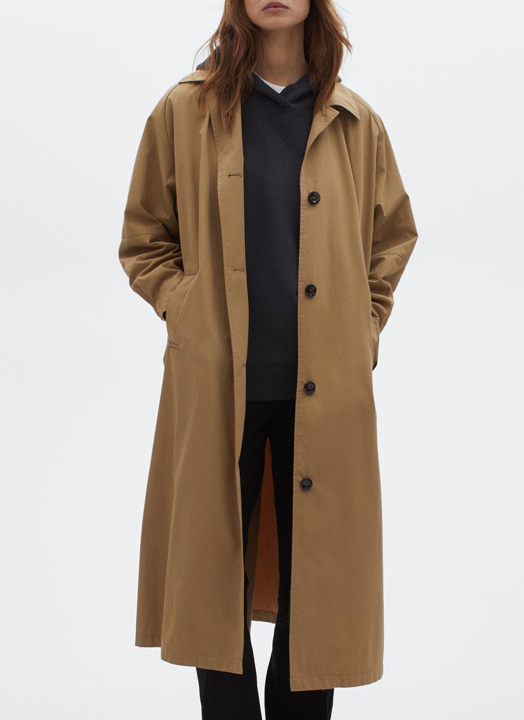 massimo dutti trench coat