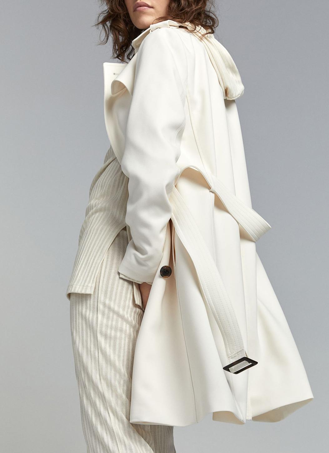 white trench coat h&M