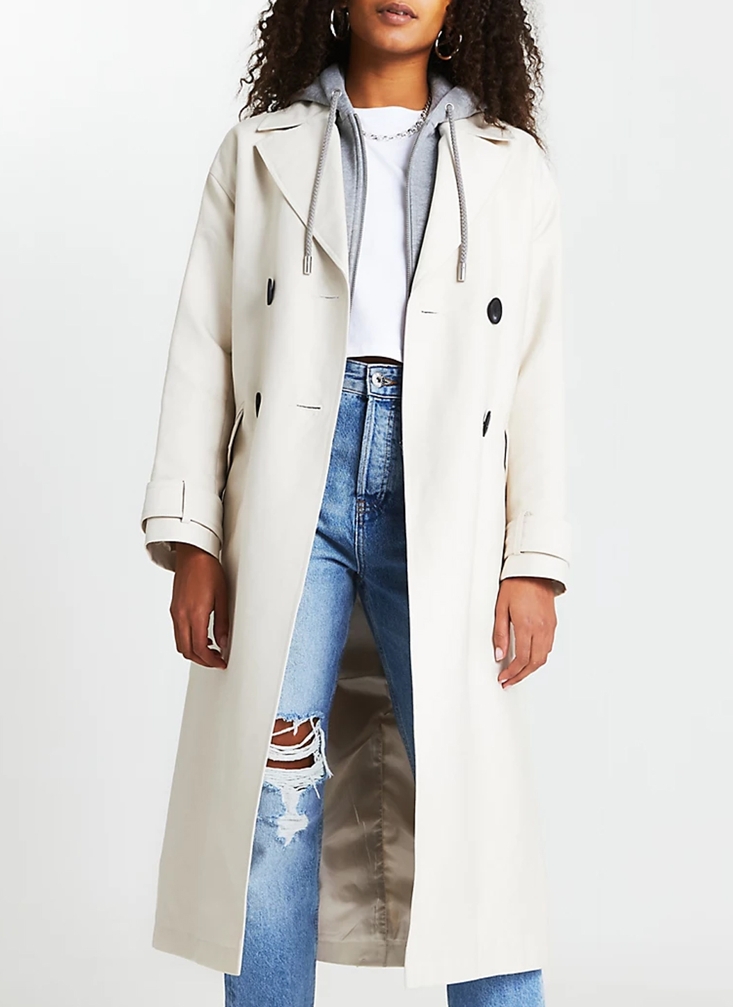 white trench coat woman 2021