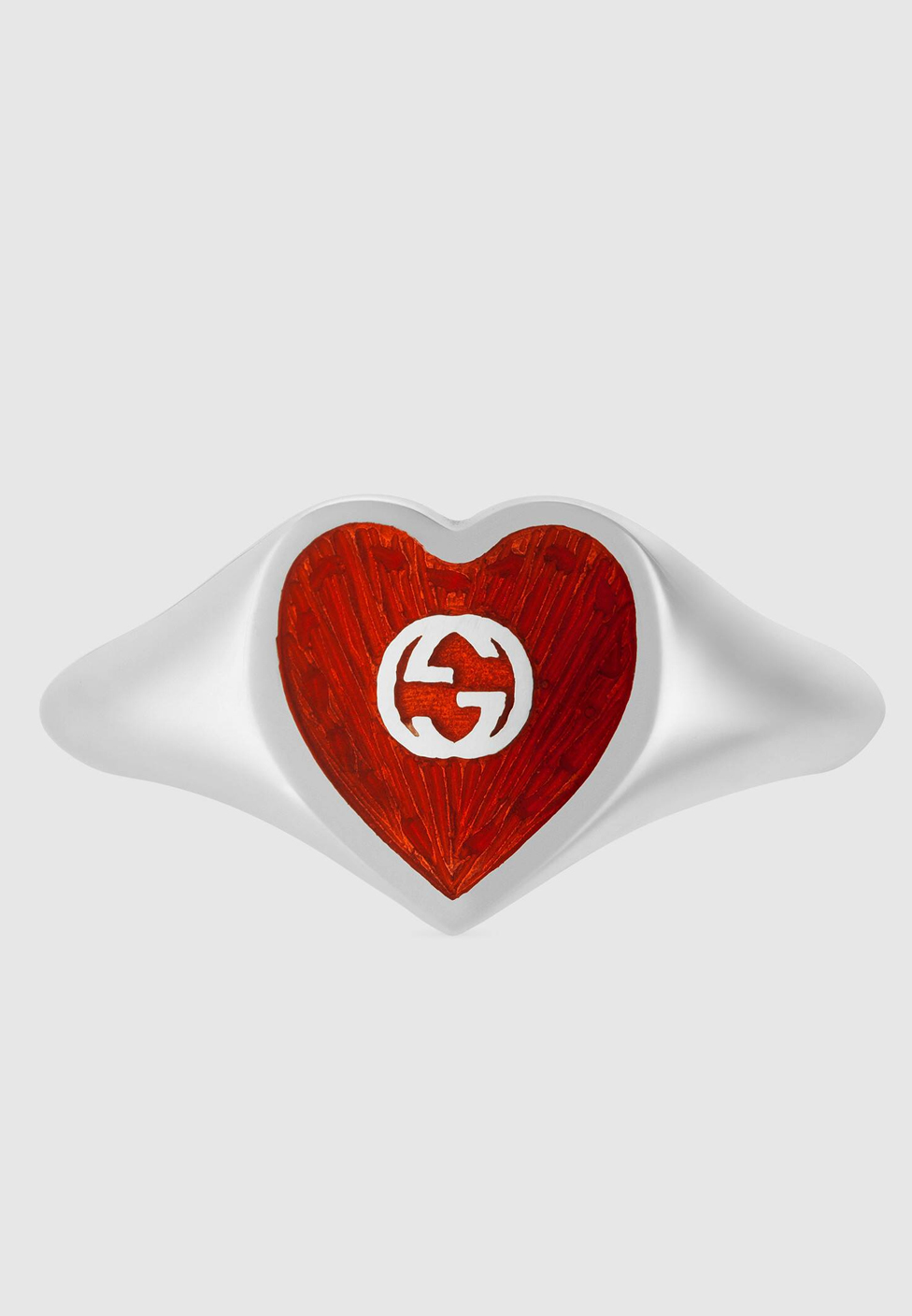 gucci heart ring red
