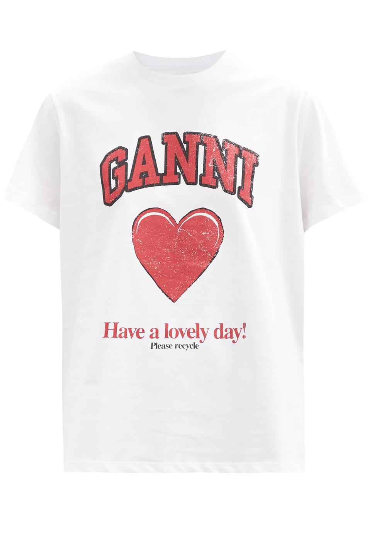 ganni heart t-shirt