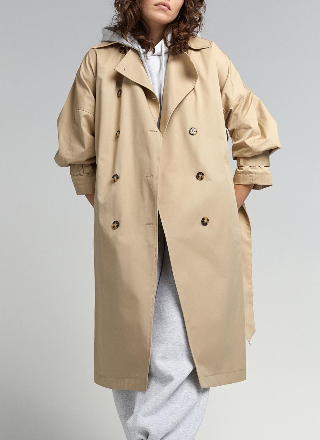 h&m beige trench coat 2021