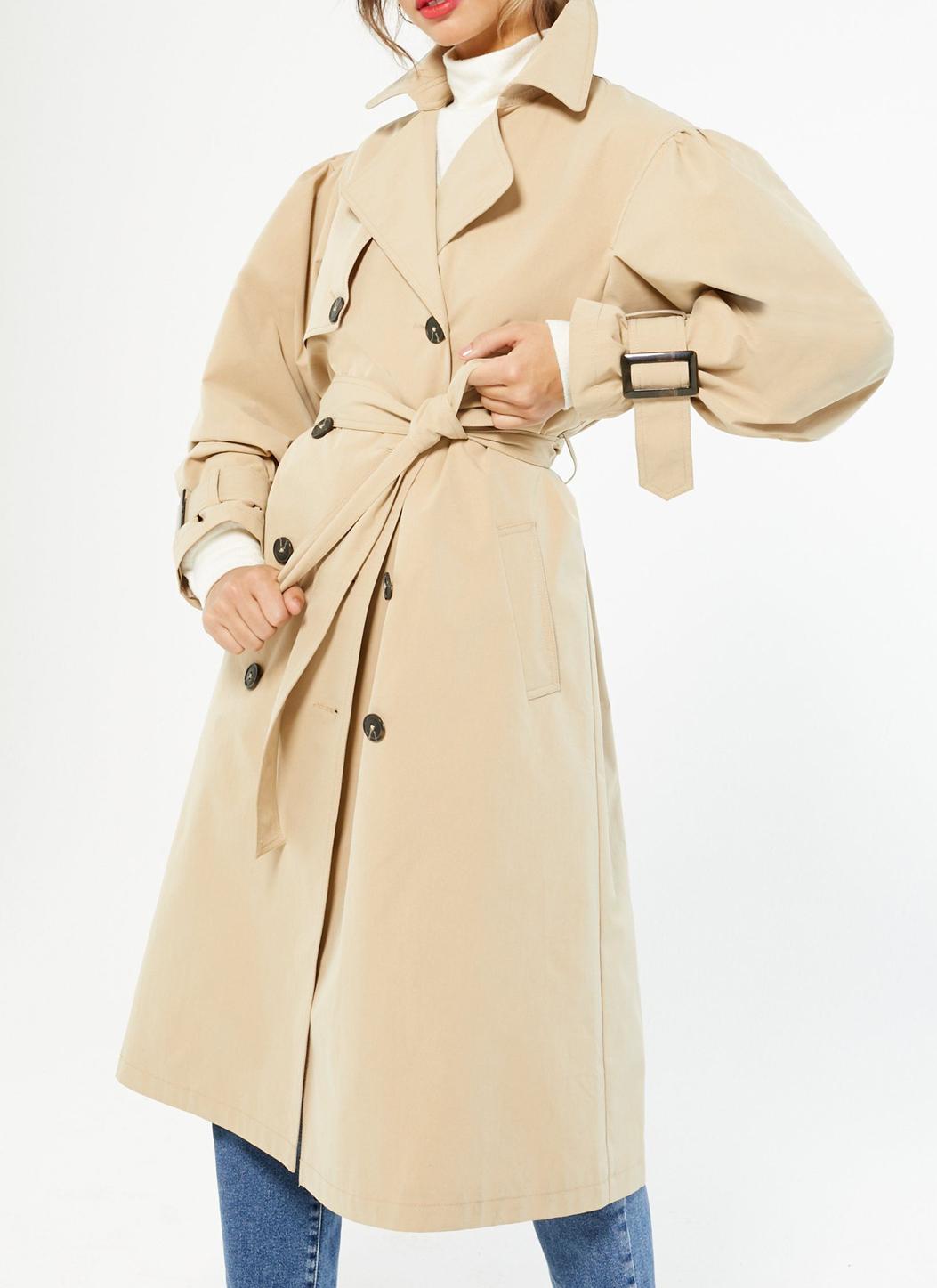 beige trench coat new look