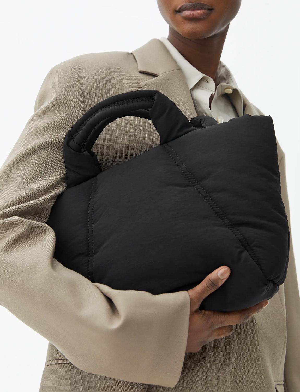 black puffy bag arket