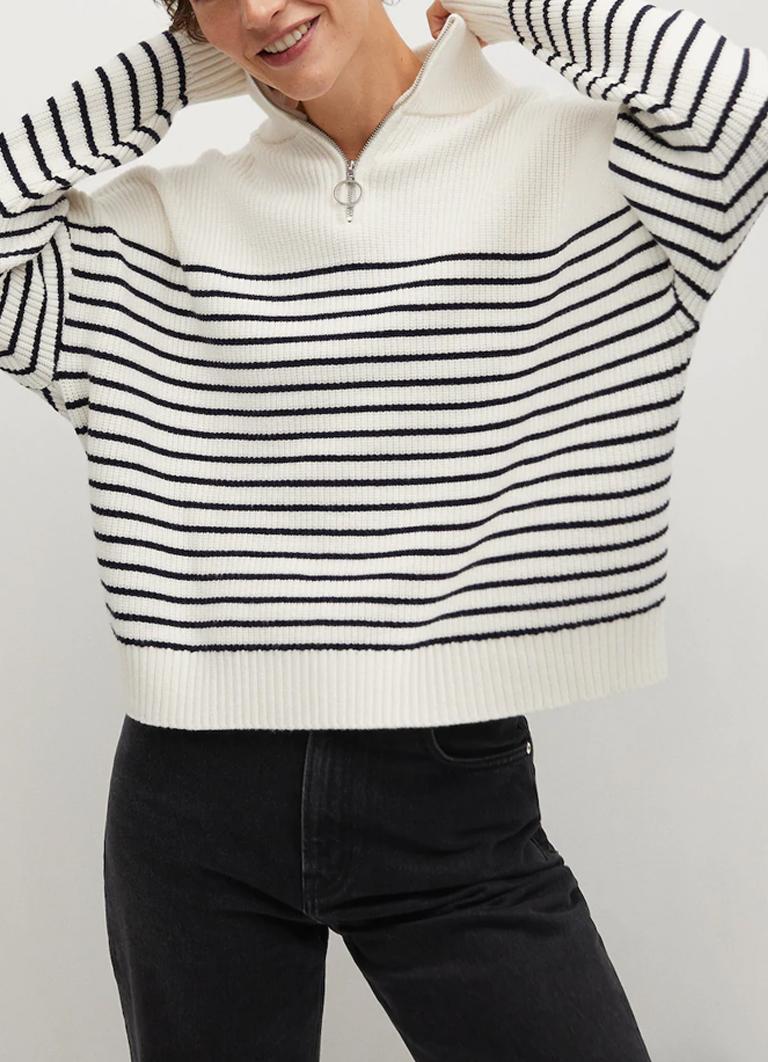 mango striped jumper