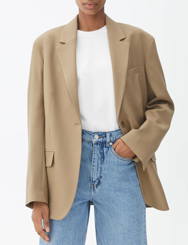 arket beige oversized blazer