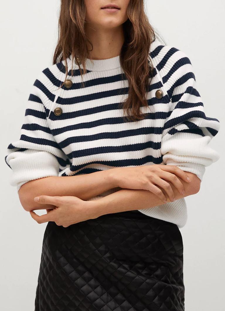 striped jumper mango