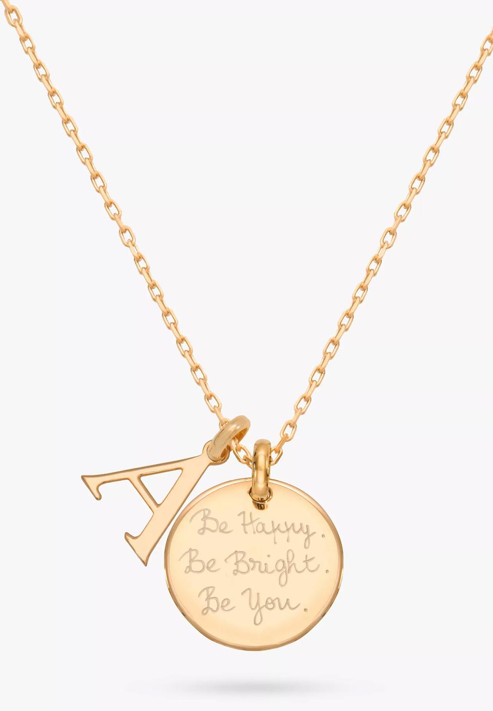 Merci Maman Personalised Alphabet Pendant Necklace, Gold