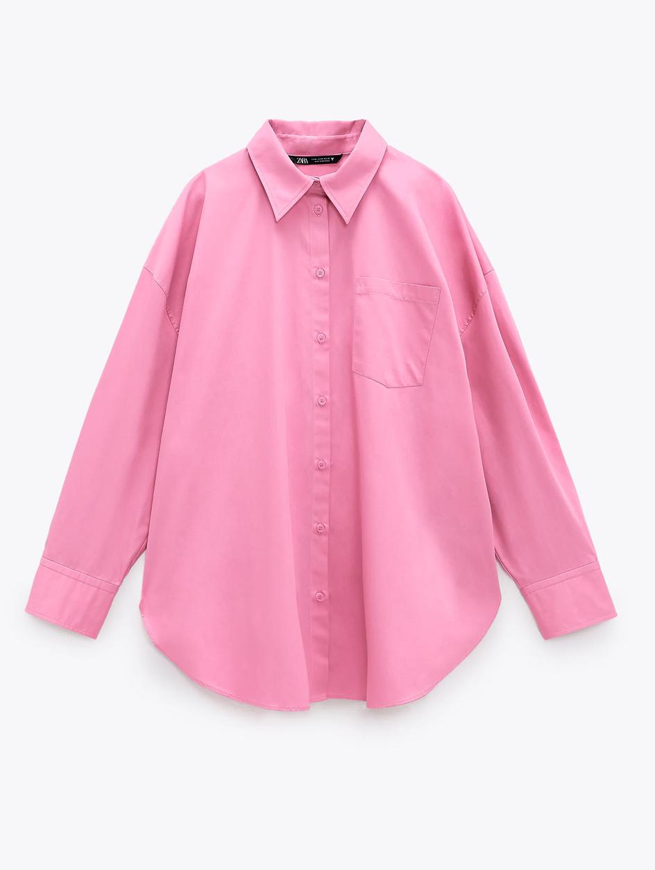 pink shirt zara