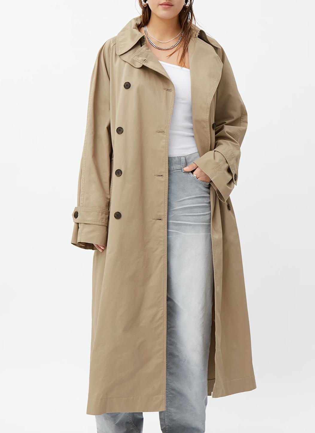 travis oversized trench coat weekday