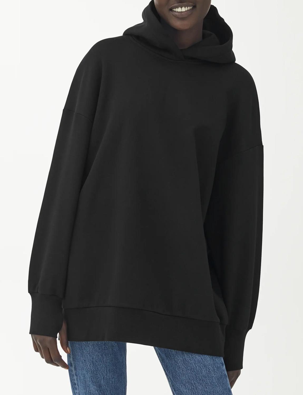 black oversized hoodie women
