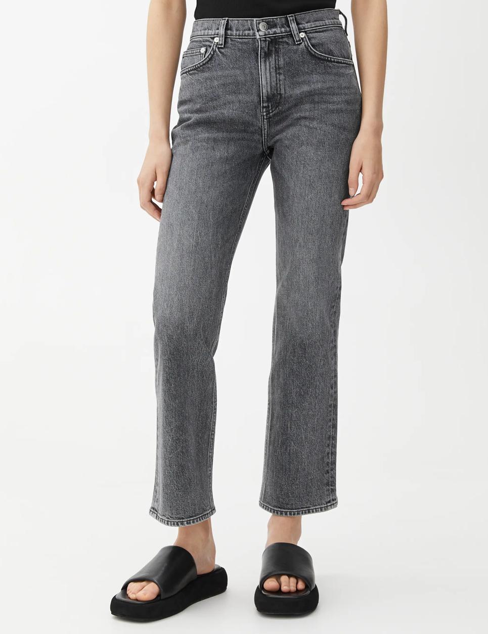 grey cropped jeans arket