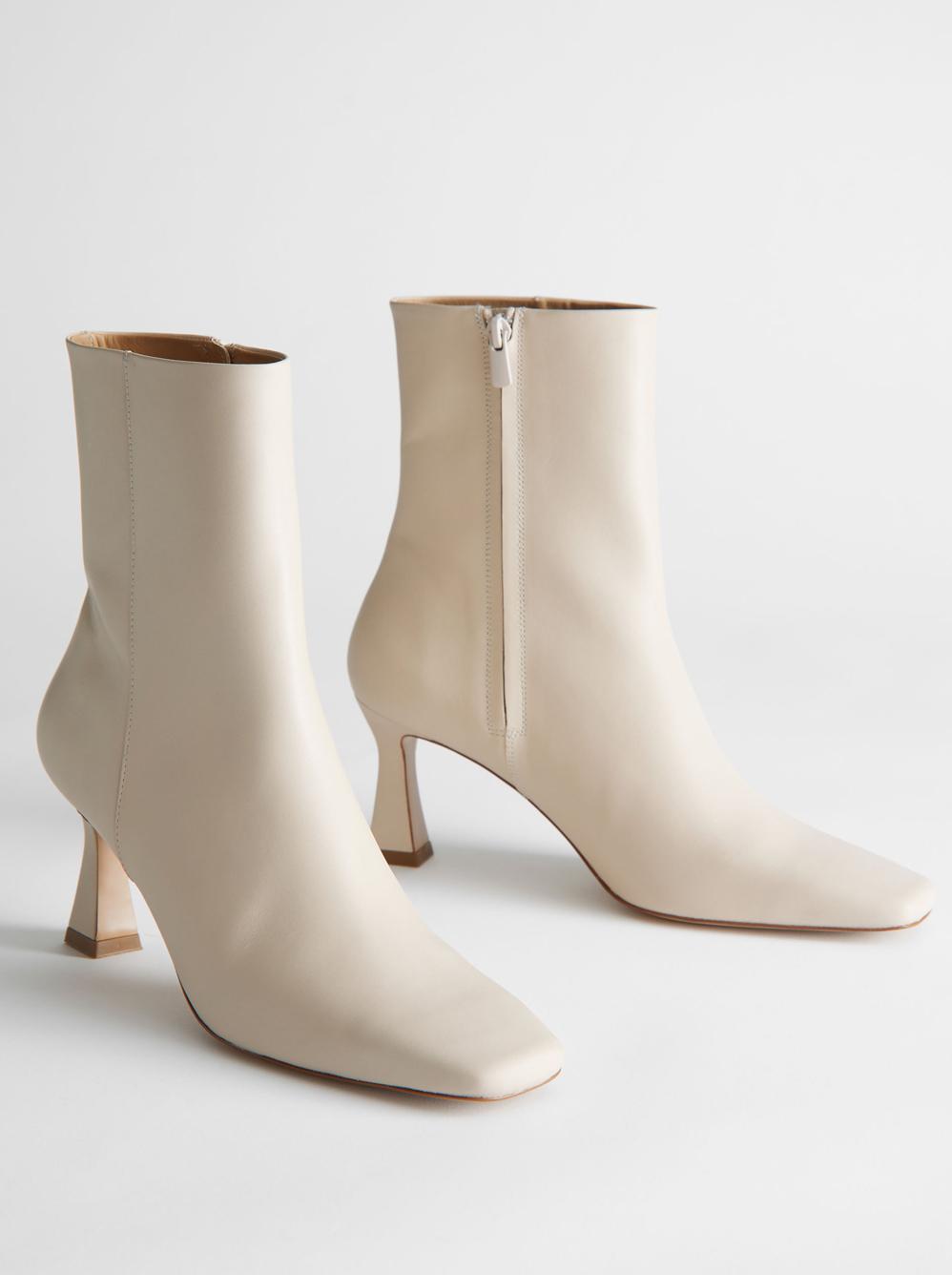beige heeled boots