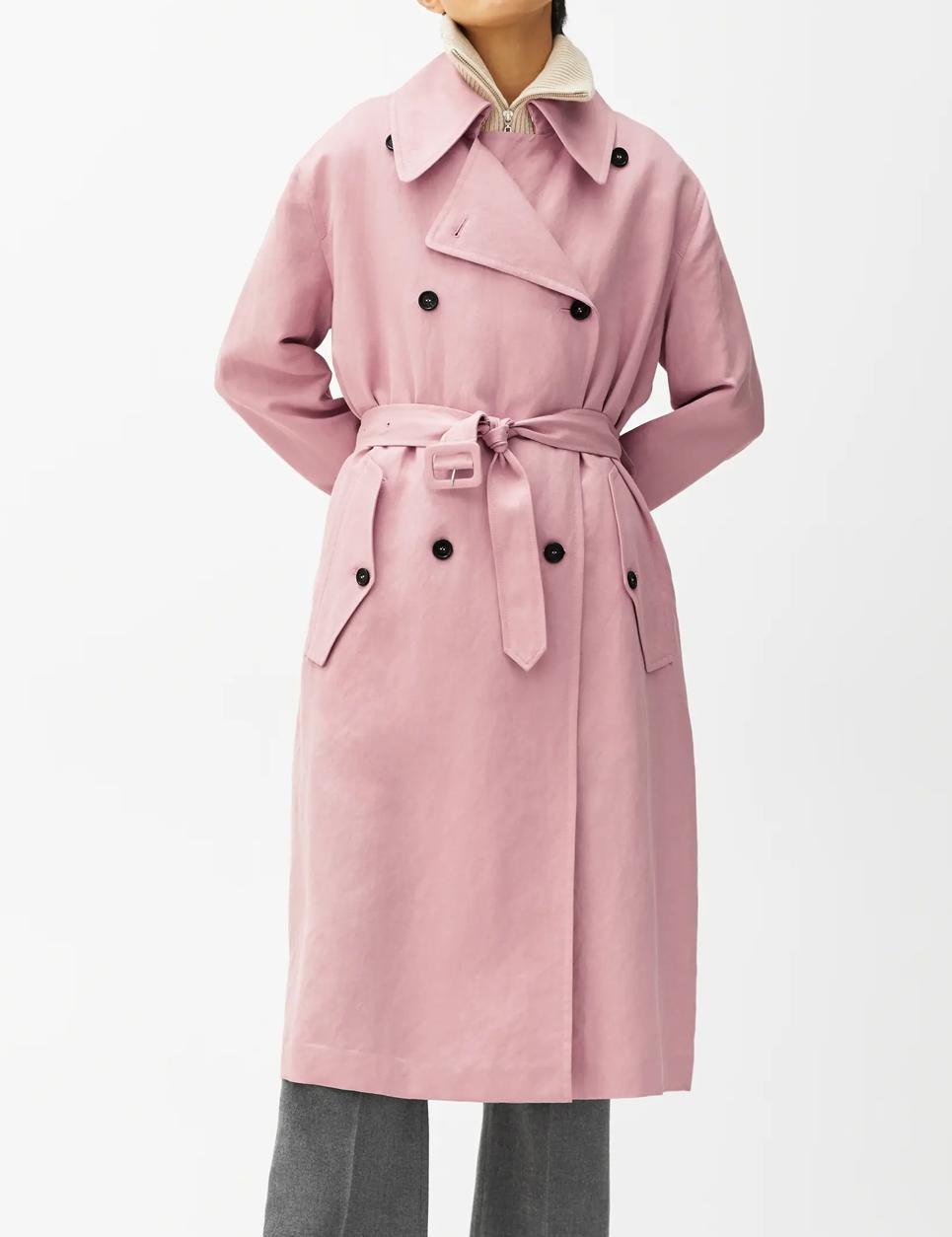 pink trench coat women 2021