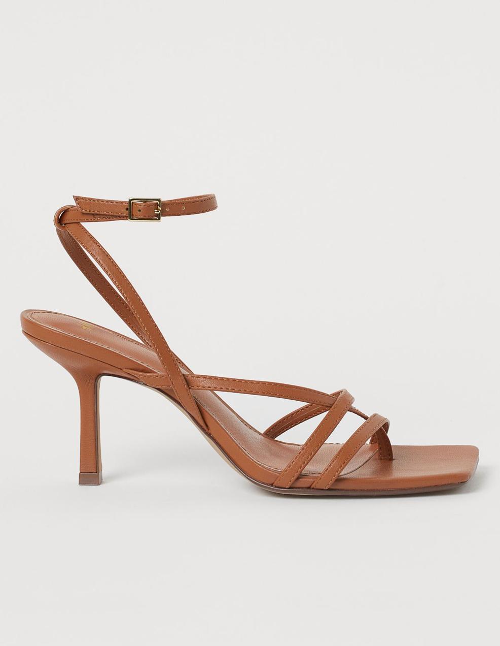 hm brown strappy sandlas
