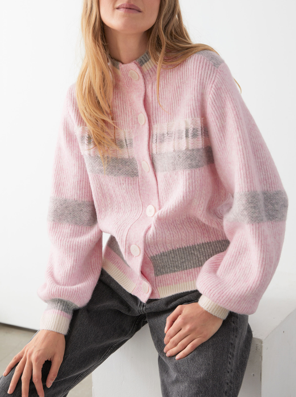 pink cardigan &otherstories