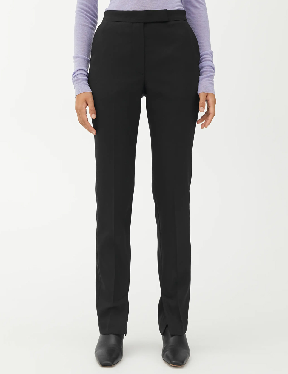 arket tailored trousers black