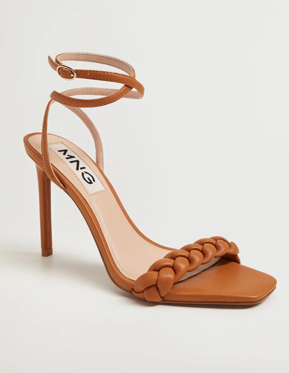 braided heeled sandals